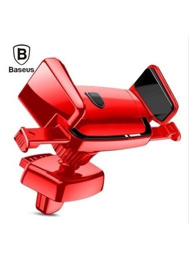 Baseus Robot Havalandırma Otomatik Araç Telefon Tutucu Kırmızı